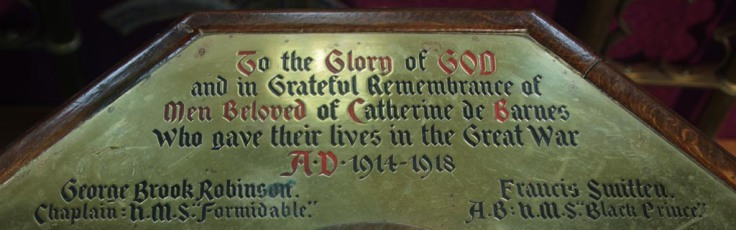Image of Catherine-de-Barnes memorial font