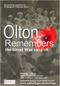 poster for Olton Remembers exhibition