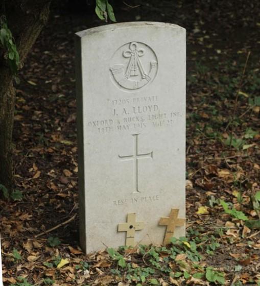 J A Lloyd gravestone