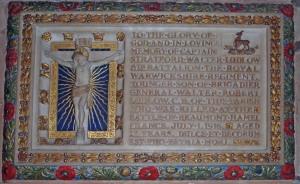 Stratford Ludlow plaque