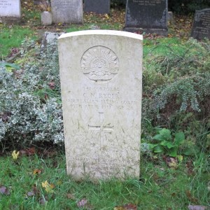 Corporal Ryder's grave