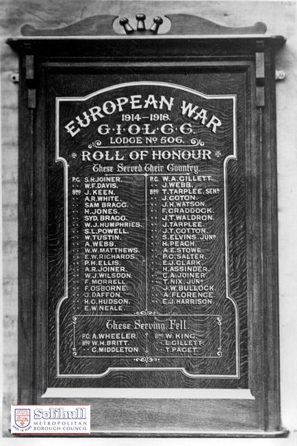 Corks war memorial