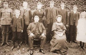 Family group photo with Samuel Andrews in uniform