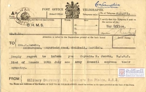 WW1 telegram