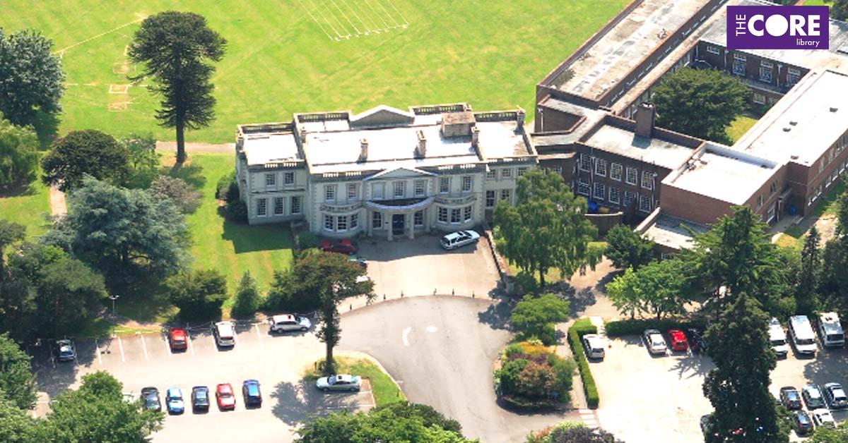 aerial photograph of Malvern Hall