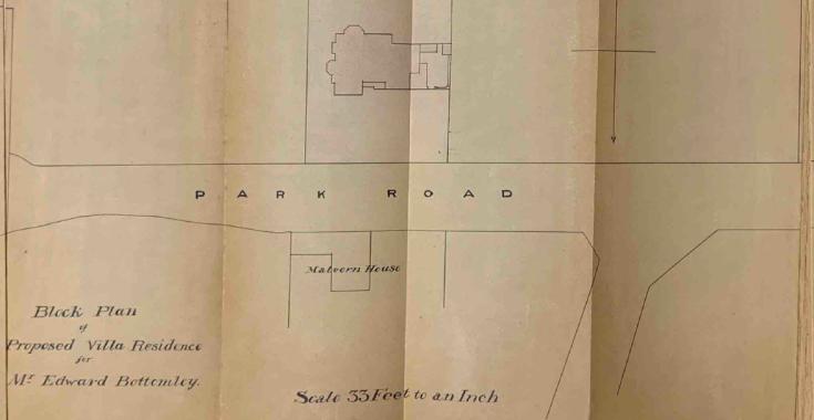 Block plan showing location of Cedarhurst