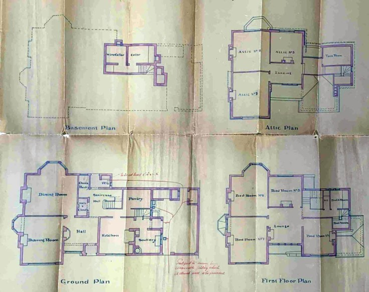 Plan showing the layout of the rooms 1894