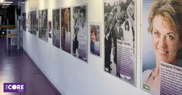 heritage gallery with women's history month exhibition