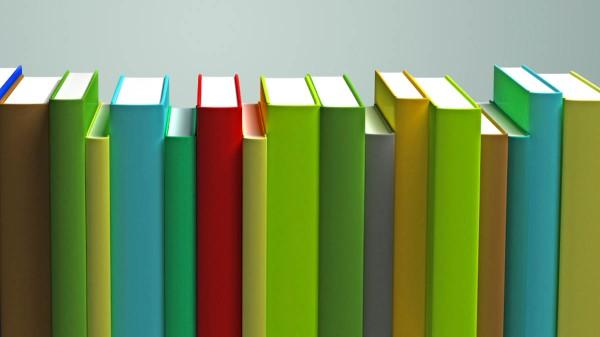 row of ebooks