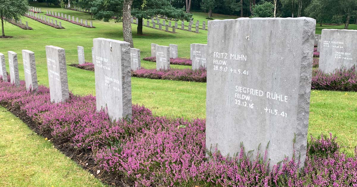 graves at the German War Cemetery, Cannock Chase