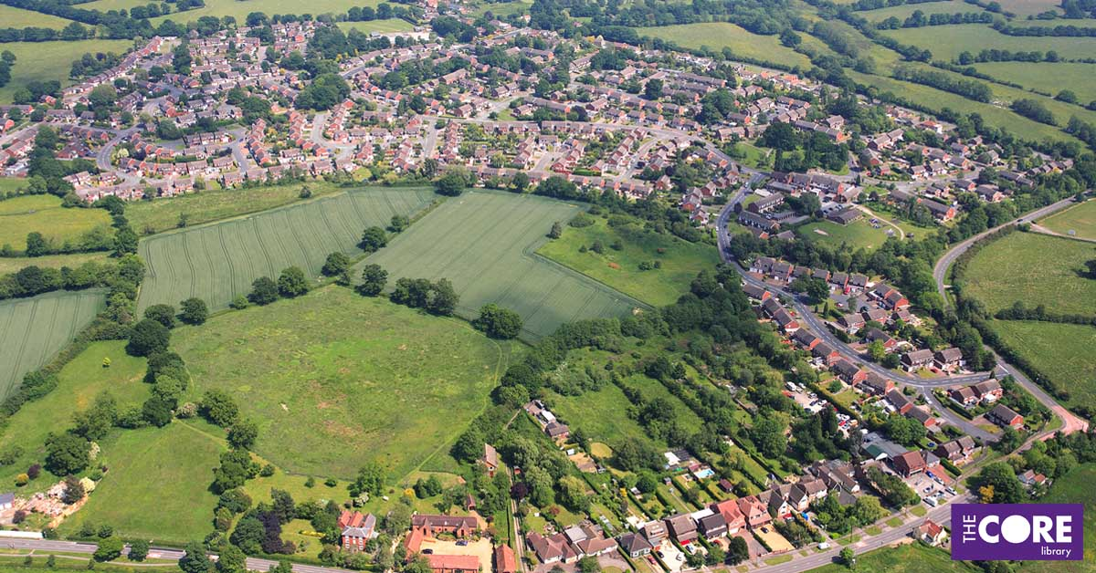 aerial photograph of Cheswick Green 2007